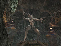 Molag Bal's statue in Morrowind