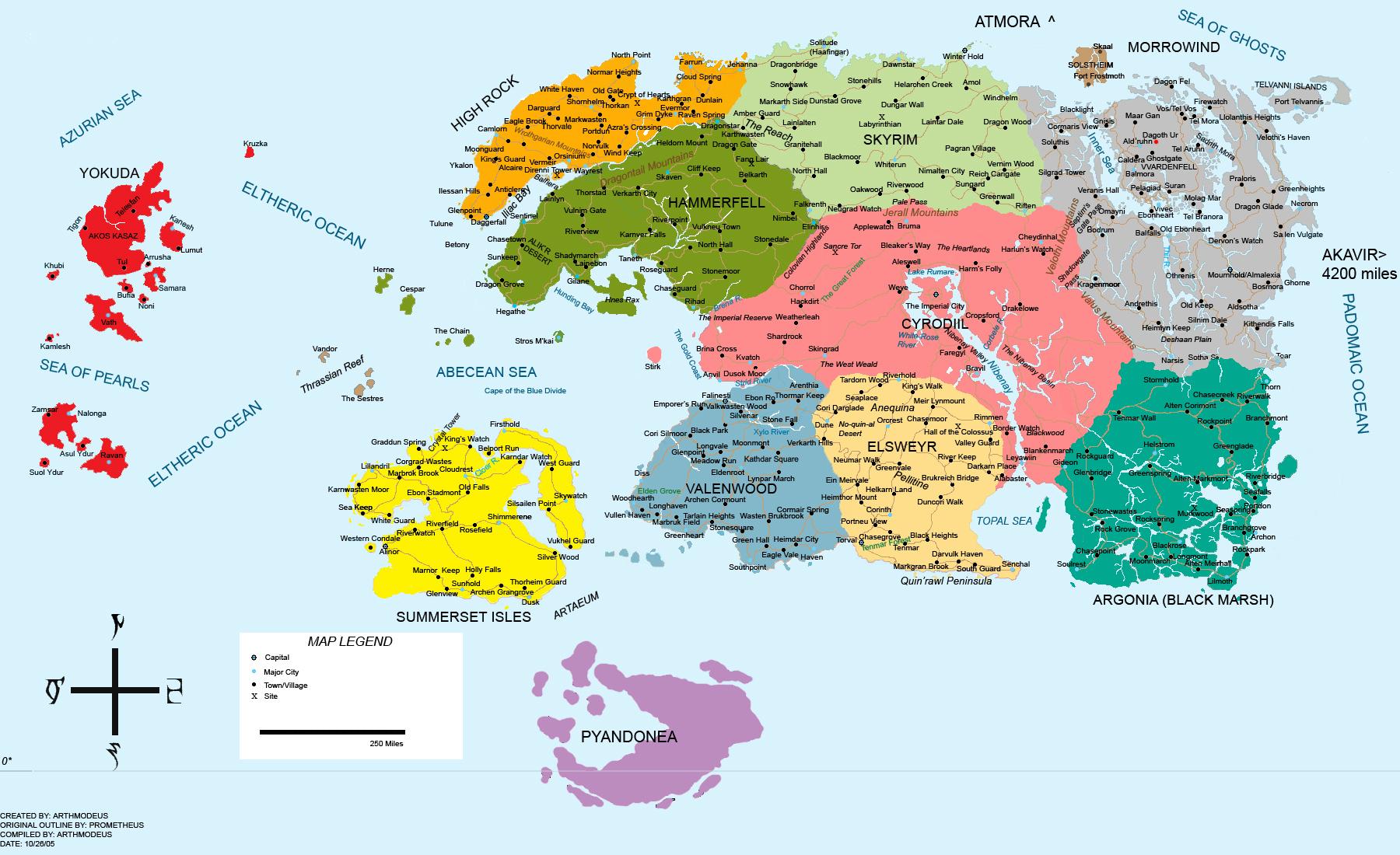 The WHOLE MAP of Tamriel  The Elder Scrolls V Skyrim Forum