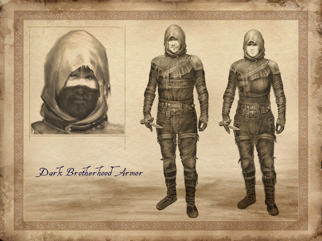 Dark Brotherhood Armor Concept Art  The Imperial Library