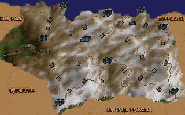 elder scrolls skyrim map. A map of Skyrim from TES: