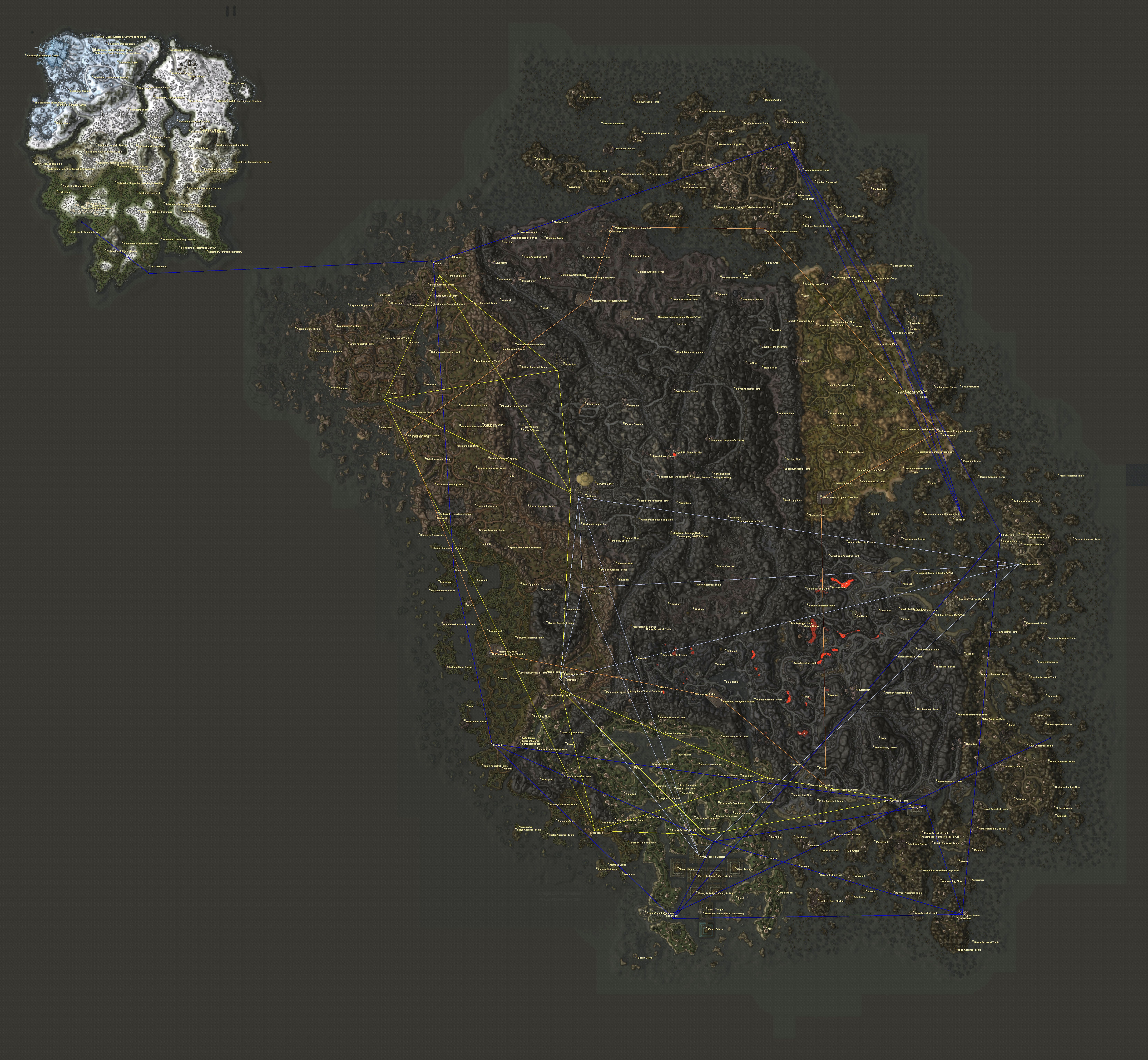 Annotated Morrowind & Solstheim Map - by Wolfie | The Imperial Library
