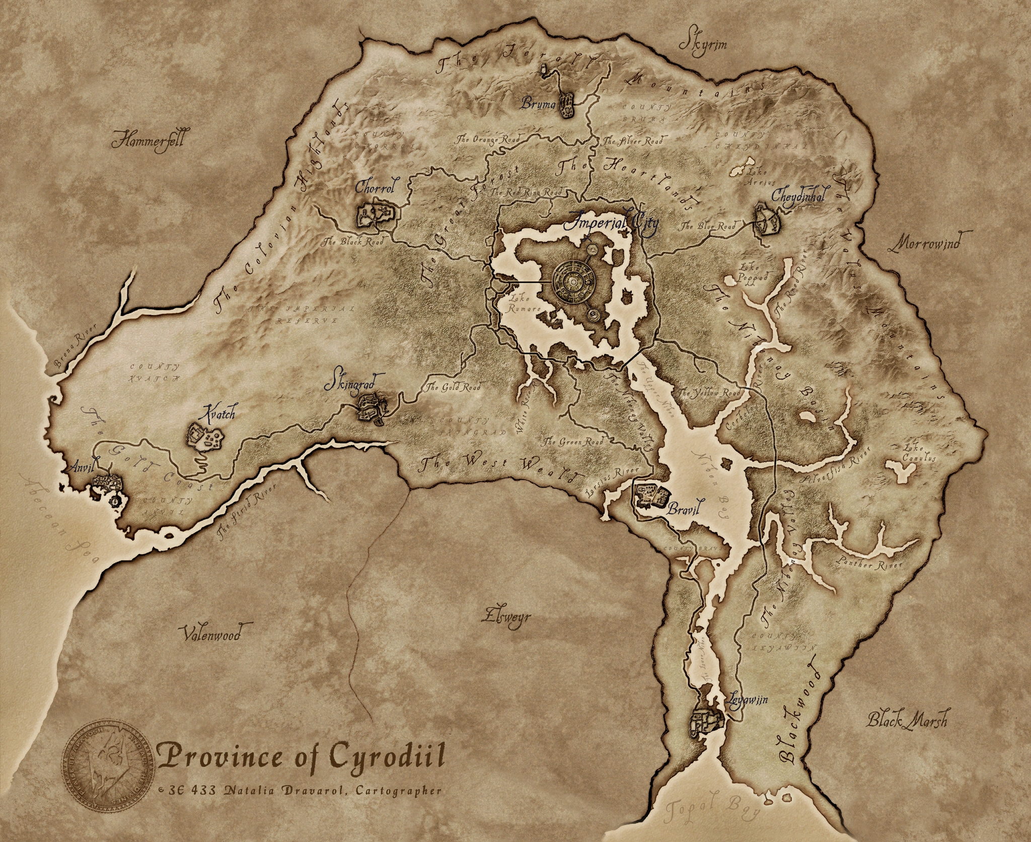 In-game Cyrodiil Map  - Official