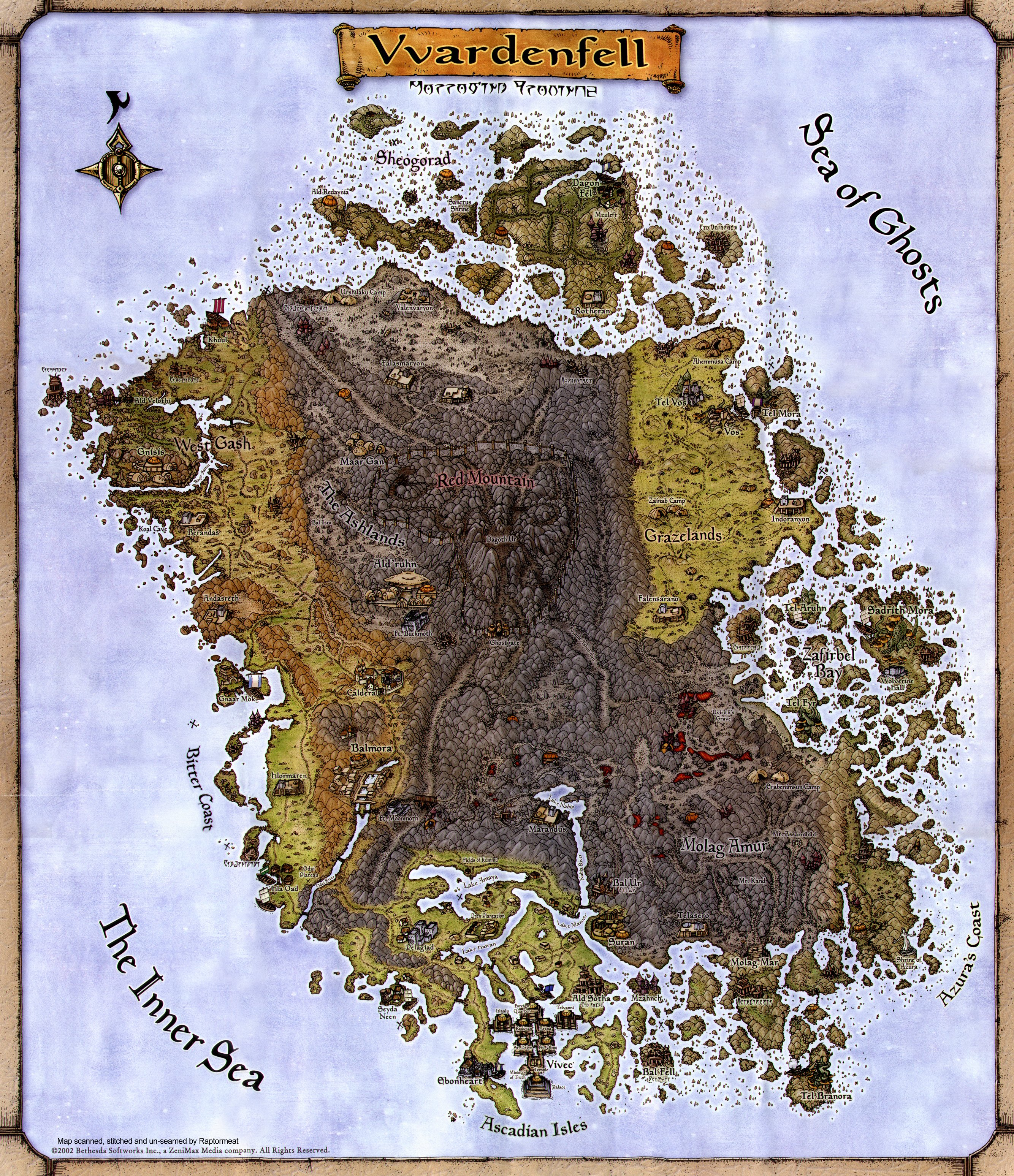 Vvardenfell Map  - Official