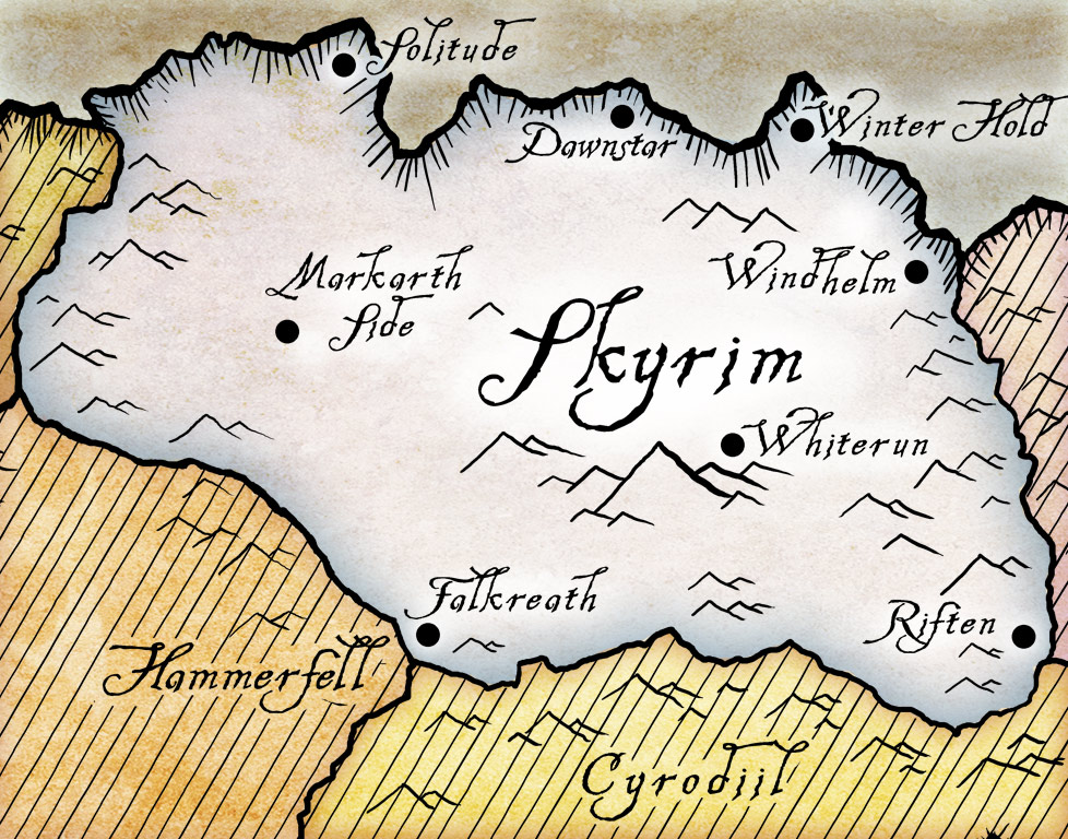elder scrolls skyrim map. Maps