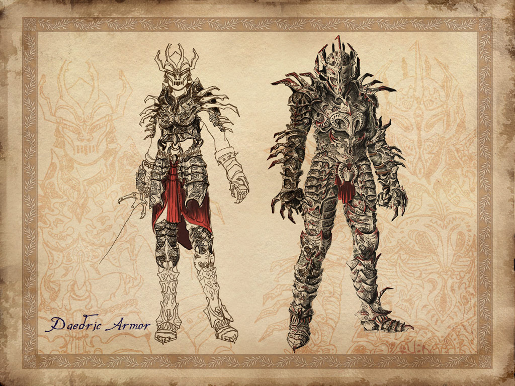 Oblivion Weapons And Armor Daedric Armor in Oblivion