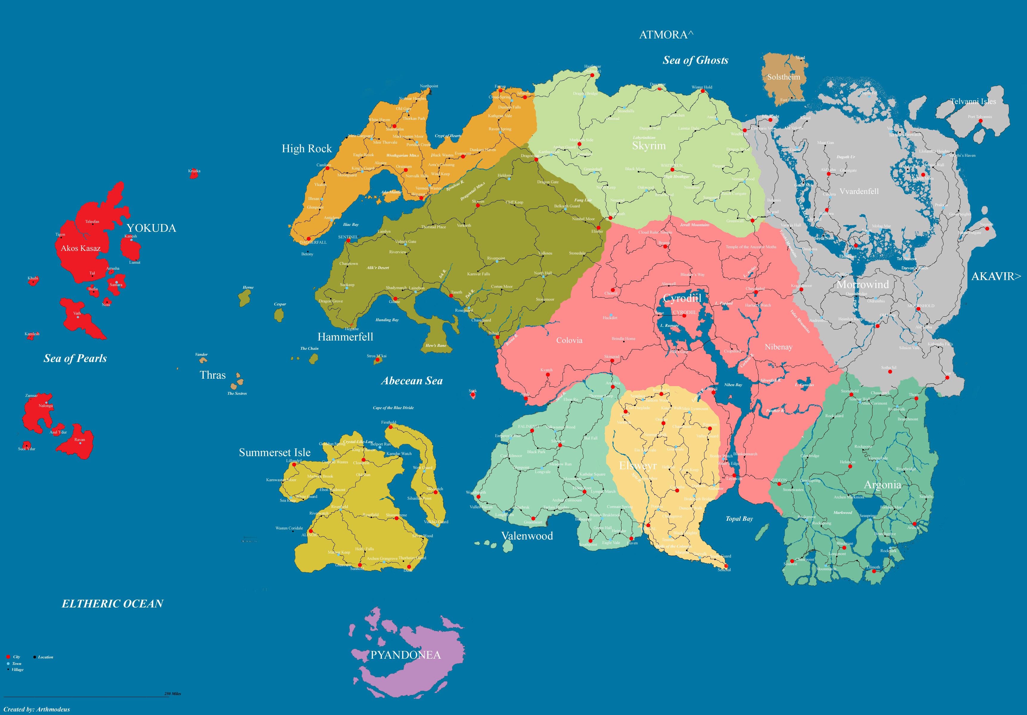 Political Map of Tamriel - by ArthmodeusD