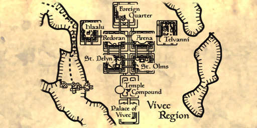 Map of Vivec