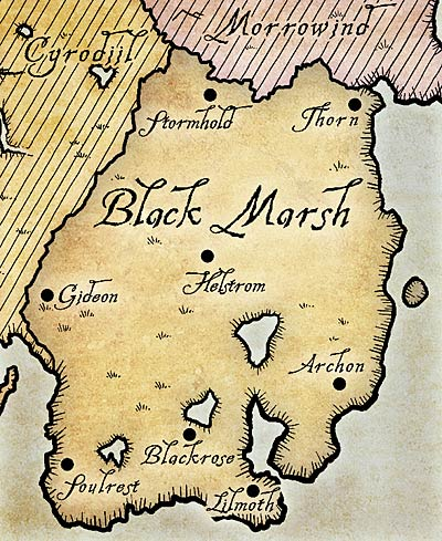 Map of Black Marsh