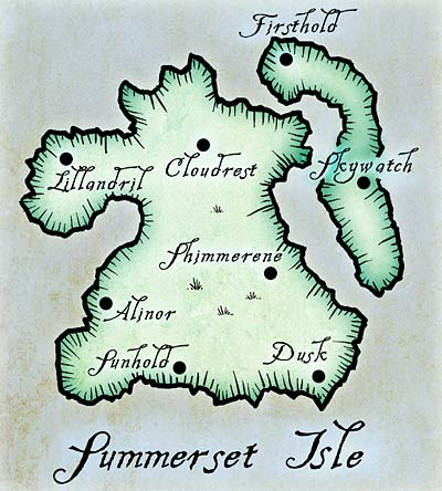Map of Summerset Isle