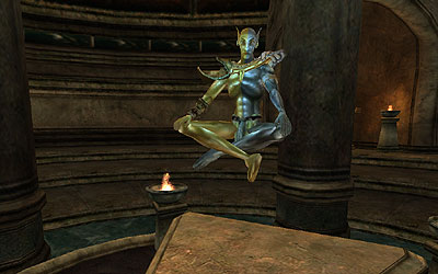 Meeting With Vivec The Imperial Library