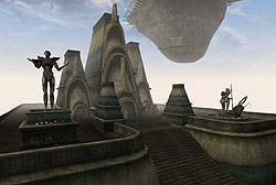Archcanon's High Fane, an example of the Metroplitan style in Vivec